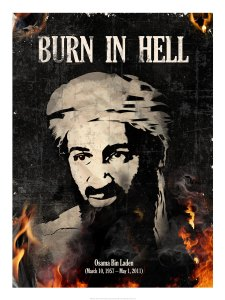 osama bin laden burn in hell